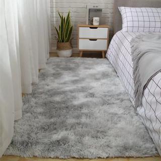 布拉塔 地毯床边毯 扎染 浅灰 70*160cm