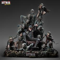 Queen Studios DC 狂笑蝙蝠侠王座1/4全身像雕像