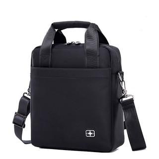 瑞士单肩包斜跨包男士商务公文手提包时尚潮流电脑背包休闲