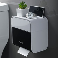 FOOJO 富居 厕纸盒 卫生间置物架 免打孔防水纸巾架