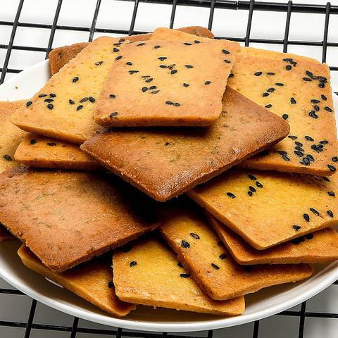 美味干烙蛋糕鸡蛋煎饼干酪饼干休闲零食小吃食品 芝麻味 500g
