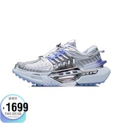 LI-NING 李宁 女鞋运动时尚鞋2021中国李宁玄空液态银女子反光减震回弹潮流休闲鞋AGLR244