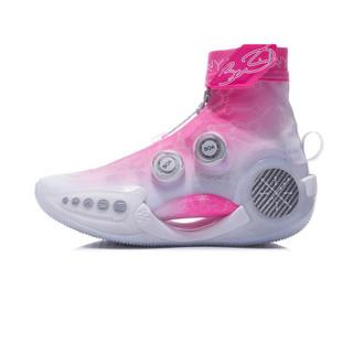LI-NING 李宁 女鞋篮球鞋2021WOW9 樱花女子减震回弹高帮篮球创新概念鞋ABER002
