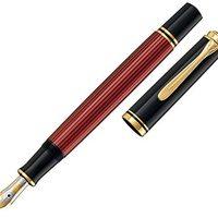 Prime会员:Pelikan 百利金 Souveran 帝王 M400 黑红色钢笔 14K M尖