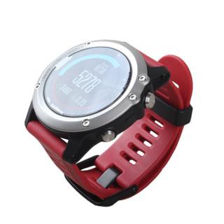 GARMIN 佳明 Fenix 3 智能手表 51.5mm 银色精钢表圈 红色橡胶表带(GPS、Glonass)