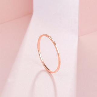 ZLF 周六福 [七夕情人节礼物]周六福 18K金戒指女款轻奢成熟玫瑰金彩金戒指 12号