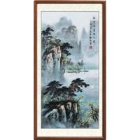 DeXiTang 得玺堂 名家手绘国画 中式山水画 125×65cm 装饰画客厅风水画