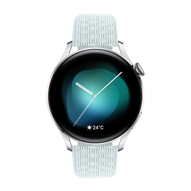 WATCH 3 智能手表 时尚版 46mm 灰蓝尼龙表带