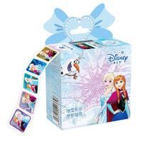 Disney 迪士尼 儿童卡通贴纸卷卷贴画小礼盒贴纸书 男女宝宝粘贴画玩具 冰雪奇缘款200贴