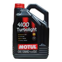 PLUS会员:MOTUL 摩特 半合成机油 4100 TURBOLIGHT 10W40 5L