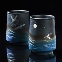 容山堂茶具 星蓝釉马克杯 5.9x10x6.8cm 陶瓷杯身