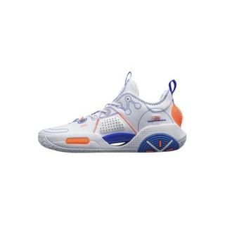 LI-NING 李宁 全城9 V1.5 启程 男子篮球鞋 ABAR077-5 标准白/晶蓝色 42