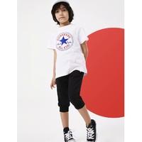 6日0点:CONVERSE 匡威 男童纯棉短袖 纯白色新款