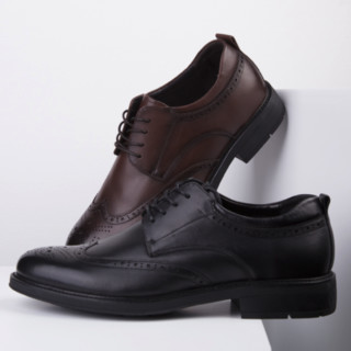 sinmec 男士牛皮德比鞋 C2MA1004 黑色 40