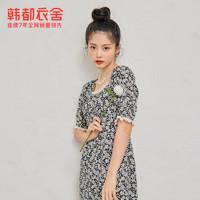 HSTYLE 韩都衣舍 碎花连衣裙2021夏装新款女装韩版裙子OD20725