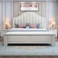 初屋美式床实木轻奢卧室1.5米公主床简约现代双人床1.8M储物婚床