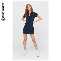 stradivarius 斯特拉迪瓦里斯 Stradivarius蓝色短款短袖POLO衫连衣裙女士夏季新款07199107010