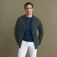 Massimo Dutti 00138800500 男士衬衫式外套