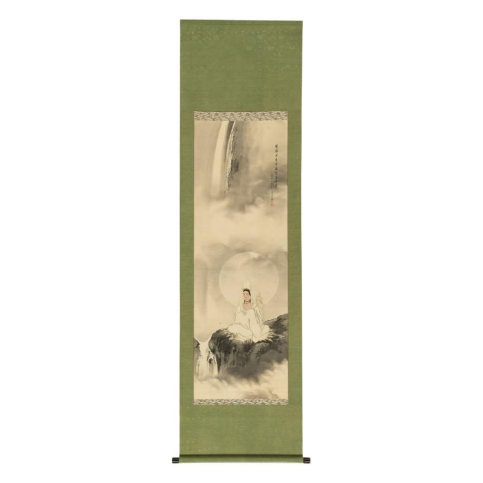 中国嘉德 (释)华亭 柳枝观音像 120×41cm 绢本