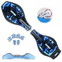 SWAY 斯威 滑板儿童成人活力板二轮游龙蛇滑板闪光 A8火麒麟蓝(礼包含护具+背包+工具)