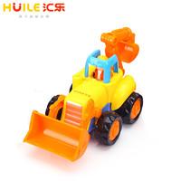 汇乐玩具(HUILE TOYS)快乐工程队 推土车 326A 惯性动力工程车男孩玩具儿童塑料车模 单只装 颜色随机
