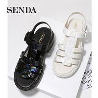 SENDA 森达 Z1202BL1 女士简约凉鞋