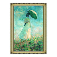 Artron 雅昌 莫奈《阳伞下右转身的女人》79×113cm 油画布 装饰画