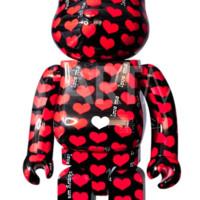 ARTMORN 墨斗鱼艺术 bearbrick*black heart款1000%PVC材质积木熊暴力熊潮流公仔摆件
