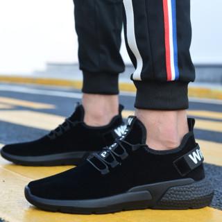 Nan ji ren 南极人 男士低帮休闲鞋 18220NJ719 黑色 40