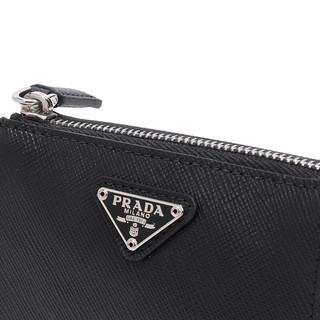 PRADA 普拉达 男女款牛皮零钱包 2TT072-2AHF-F0002 黑色 迷你