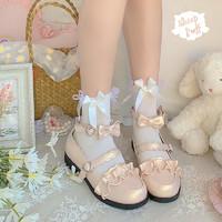 定制升级版绵羊泡芙原创Lolita日系花边圆头学生单鞋女 珠光生成 34