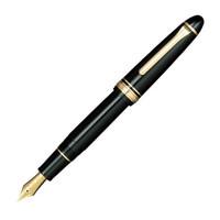 SAILOR 写乐 2021/2024大型鱼雷21K金尖 钢笔 2024黑杆银夹 F+吸墨器