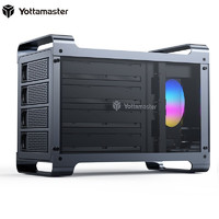 评论有奖、小编精选 : 狂放玩者机械心|Yottamaster 尤达大师 Y-Defender系列 四盘位RGB磁盘阵列柜