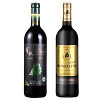 PLUS会员:爱茉菲尔红酒+干红葡萄酒 750ml  买一赠一