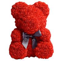 唯忆 玫瑰花熊礼盒 嫣红色
