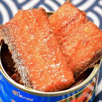PLUS会员:渔人百味 五香带鱼罐头 100g*4罐