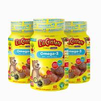 L'il Critters 丽贵 儿童DHA鱼油小熊糖 60粒*3瓶