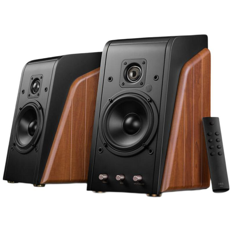 HiVi 惠威 M200新经典2.0蓝牙音箱 HiFi有源音响 笔记本台式电脑音箱 家用客厅电视音响 原木色
