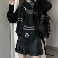 春日制服部 巫师之境 JK制服 女士格裙 绿色