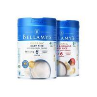 BELLAMY'S 贝拉米 有机高铁米粉 国行版 1段 原味+3段 苹果香蕉味 225g*2罐