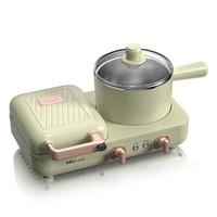 小熊三明治早餐机家用小型懒人轻食机多功能四合一压烤面包机神器