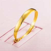豫银 宽面大肚黄金手镯 YYHJSZ024