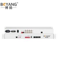BOYANG 博扬 BY-4E1-4E 多业务PDH光端机4E1 4路2M 4路以太网 FC单纤20公里 机架式 双电源