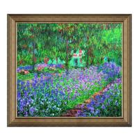 Artron 雅昌 莫奈《吉威尔尼花园》72×65cm 背景墙装饰画挂画