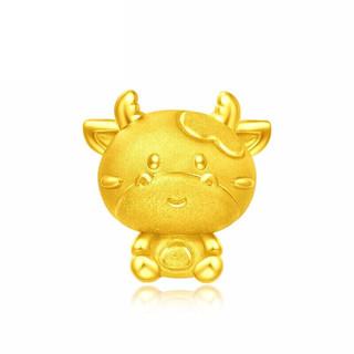 CHOW TAI FOOK 周大福 EOR45 1780 十二生肖牛 黄金转运珠吊坠 约1.13g