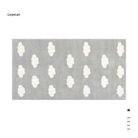 青山美宿 星空灰 现代抽象莫兰迪客厅地毯 800*1500mm