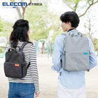 ELECOM 宜丽客 日本粉色书包相机包off toco双肩背包旅行专业摄影包男女微