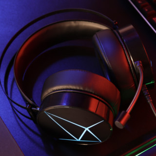 Dareu 达尔优 EH722 RGB版 耳罩式头戴式耳机 黑色 USB口