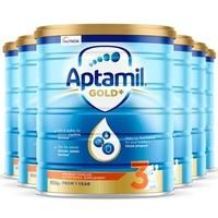 Aptamil 爱他美 金装版 婴幼儿奶粉 3段 900g*6罐