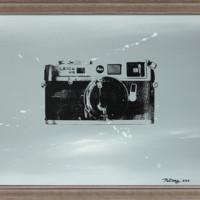 ARTMORN 墨斗鱼艺术 蒲冬 原创复古相机油画原作孤品《M6》40x50cm 布面丙烯 手工画框装裱